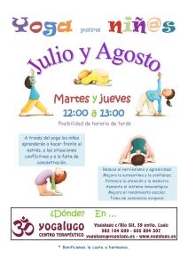 Cartel Yoga Niños.